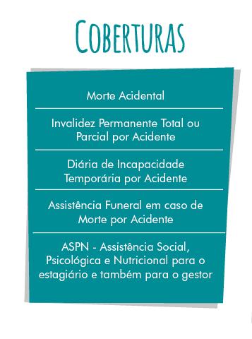 Coberturas do seguro estagiário PASI
